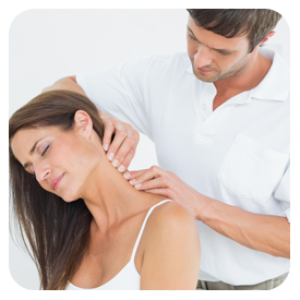 chiropractor helping patient